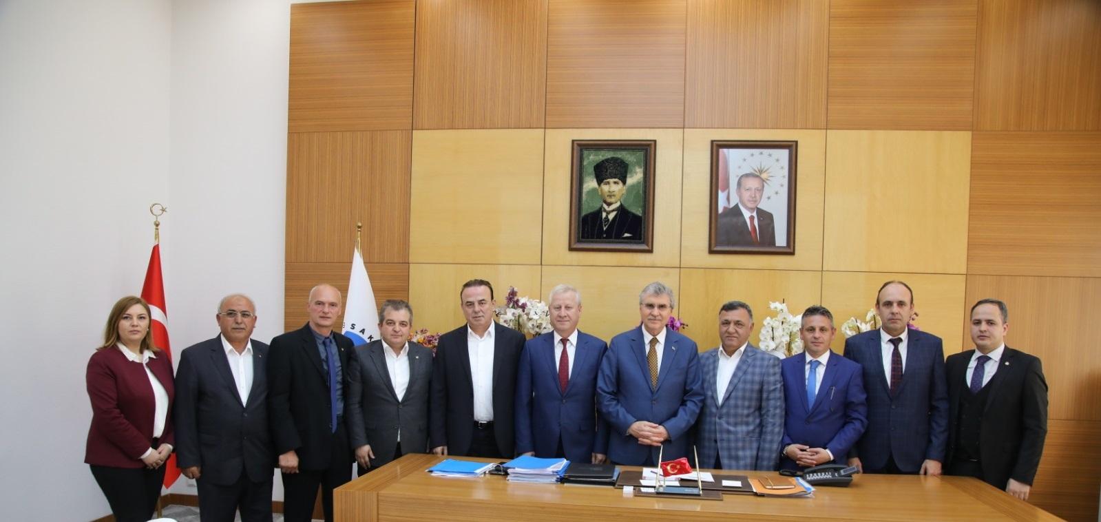 STB'den SBB Başkanı Ekrem Yüce'ye Hayırlı Olsun Ziyareti