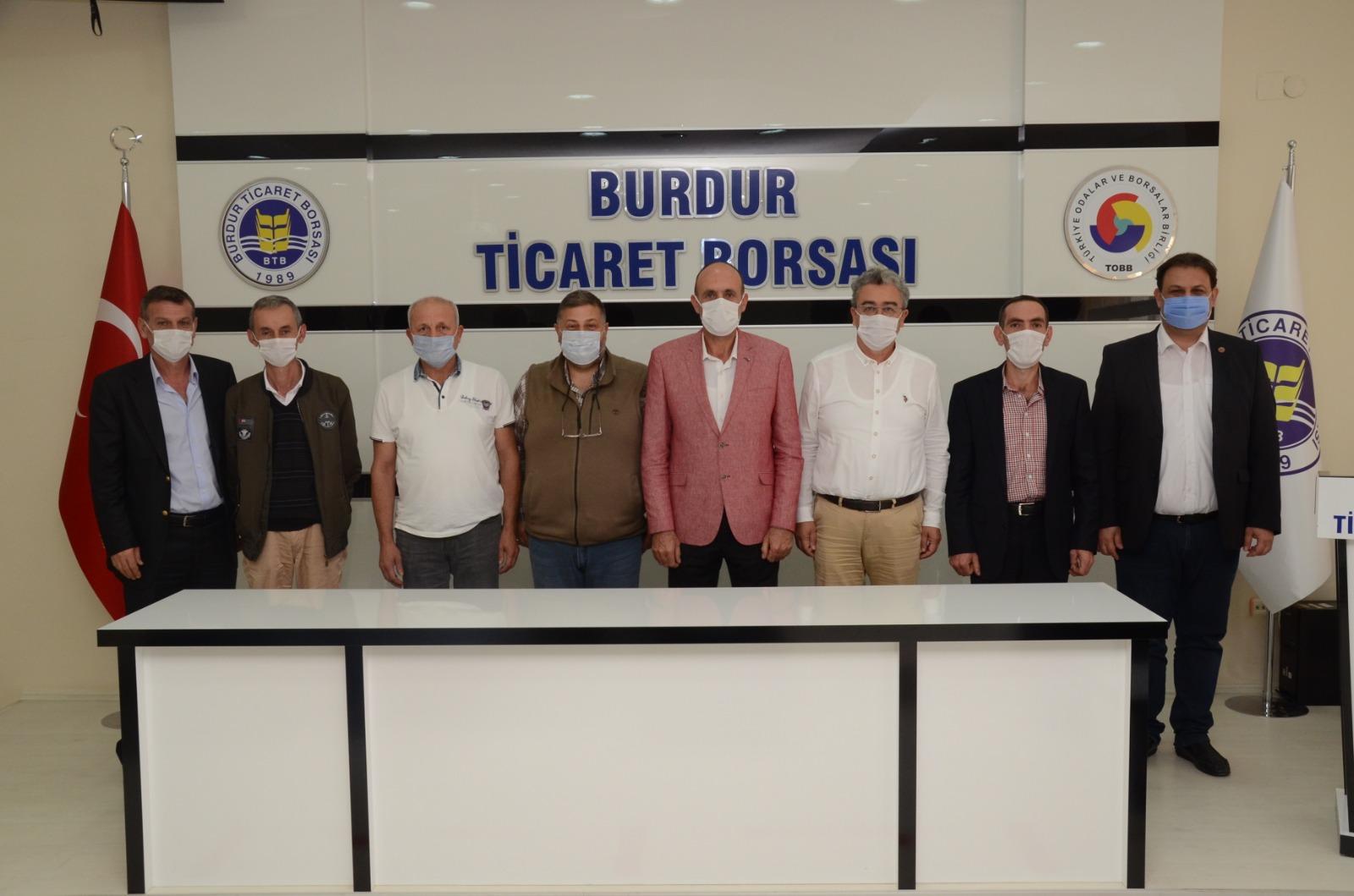 Sakarya TB'den Burdur Ticaret Borsasına Ziyaret