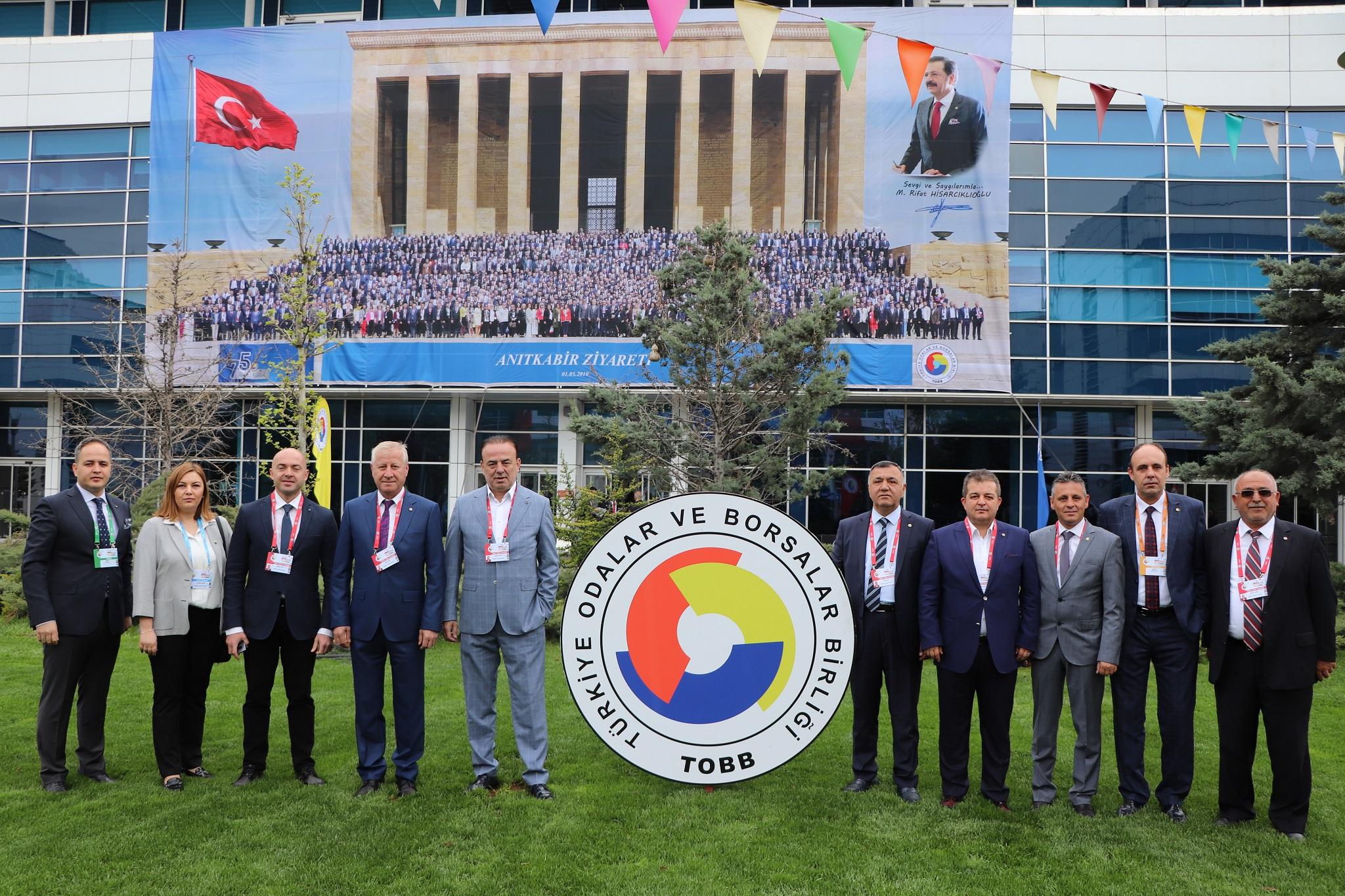 Sakarya Ticaret Borsası TOBB delegeleri 75.Genel Kurula Katıldı
